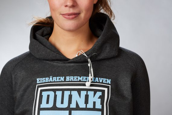 Eisbären Bremerhaven – FanShop – Basketball – Hoodie Dunk it Damen anthrazit 3