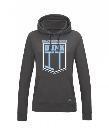 "Hoodie ""Dunk It"" Damen in charcoal"